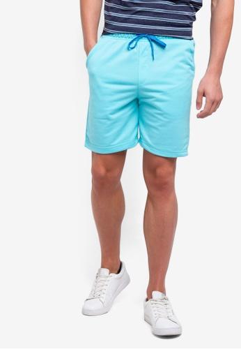 UniqTee 藍色 百慕達短褲 28B70AA73F8FFDGS_1