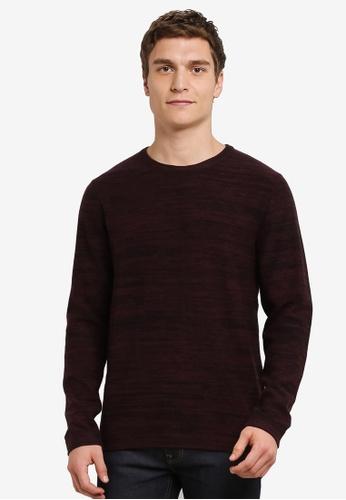 Jack & Jones red Fargo Knit Sweatshirt JA987AA0S5O7MY_1