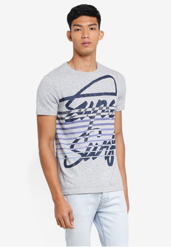 Superdry grey Superdry Crew Surf Tee 9A07EAA8D1C9CAGS_1