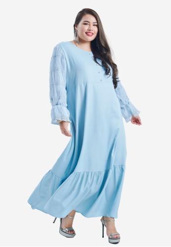 CURVA FABULOUS blue Wiwiana Dress E3436AAAB5744FGS_1