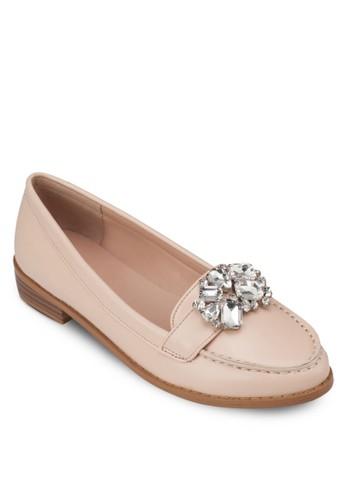 寶石仿皮樂服鞋, 女zalora 折扣碼鞋, 船型鞋