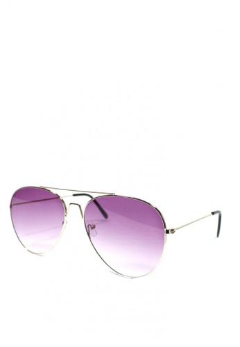 HEY SWEETY purple Sweety Aviator Sunglasses BBC07GL56F952DGS_1