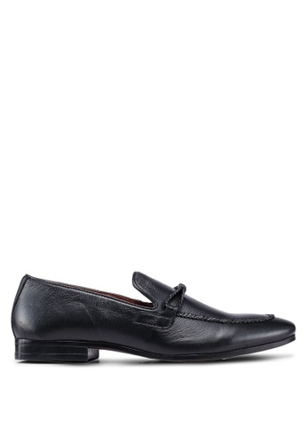 Burton Menswear London black Black Playfair Plaited Shoes 25FDFSH4783383GS_1