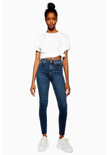 c59d966076f Shop TOPSHOP Vintage Indigo Raw Hem Jamie Jeans (Regular Fit) Online on  ZALORA Philippines