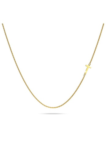 Bullion Gold gold BULLION GOLD Bold Alphabet Letter Initial Charm Necklace in Gold Tone - T D29E4ACBBE0787GS_1