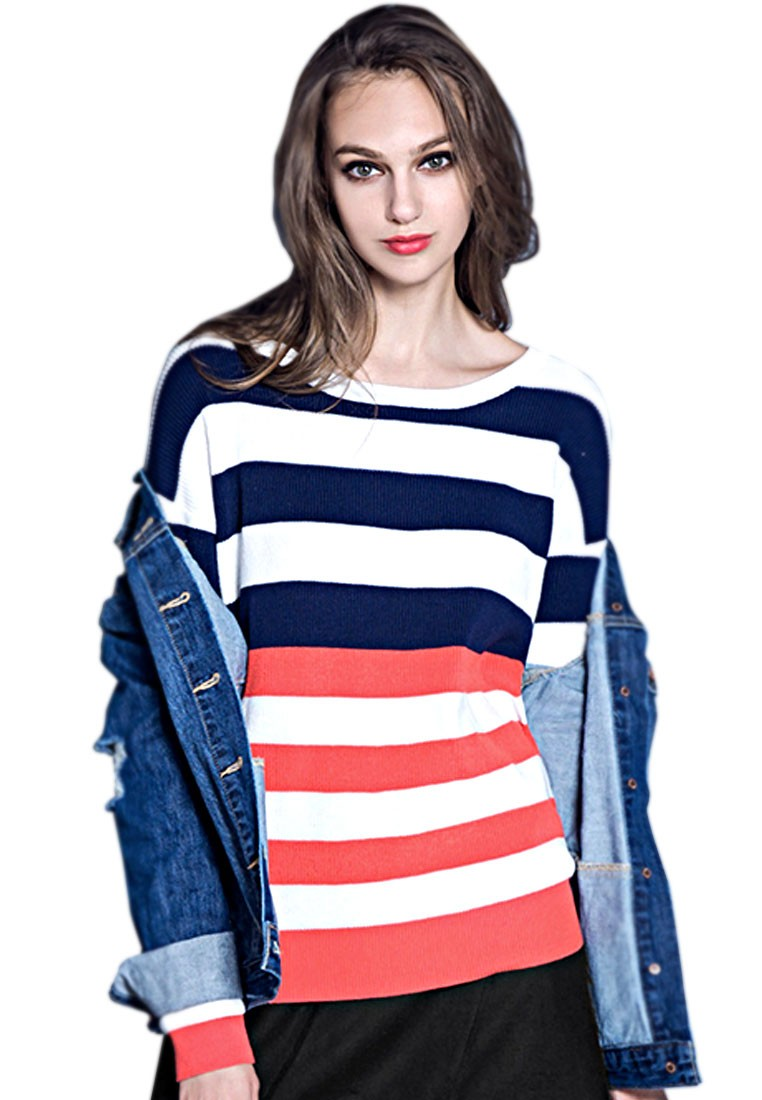 Casual Laziness Stripes Pullover