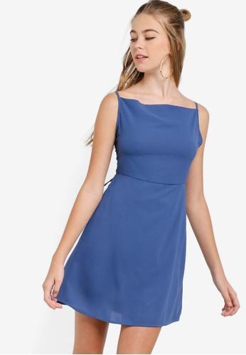 Something Borrowed 藍色 後交叉短洋裝 5BDD2AAF98C195GS_1