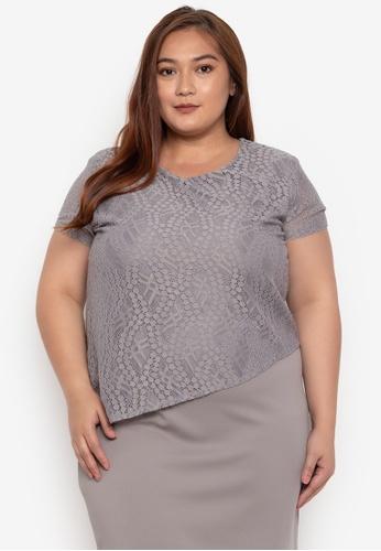 2c03d28665d6 Shop Divina Plus Size Overlay Lace Dress Online on ZALORA Philippines