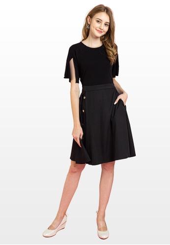 L'zzie black LZZIE EVA DRESS - BLACK 42D12AA6836685GS_1