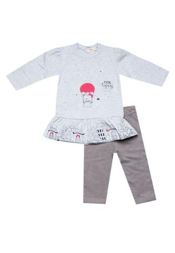 Babybol grey Baby's Dress & Legging Set 5B49AKA6060C33GS_1