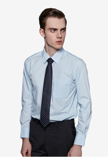 Life8 blue Solid Cutting Striped Men's Formal Shirt -mit-11001-blue LI283AA65EOGSG_1