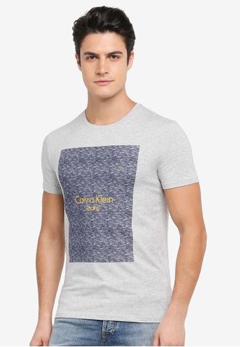 Calvin Klein grey Logo Crew Neck Short Sleeve T-Shirt - Calvin Klein Jeans 1DD9FAA9B2637DGS_1