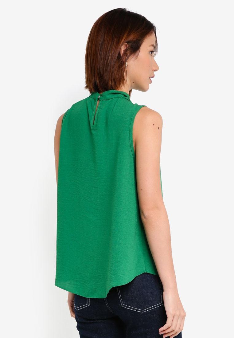 Green Linen Detail Perkins Pearl Top Dorothy Green aZqAw5qn