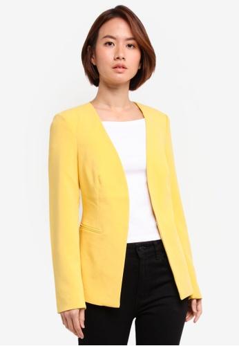 Vero Moda yellow Anna Long Sleeve Blazer E6A41AA4C11FFCGS_1