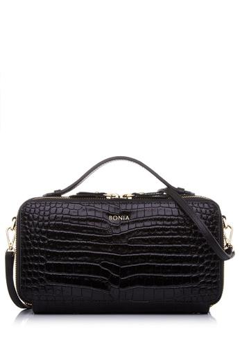 Bonia Black Carina Croco Sling Bag 29115ac2b2cd0bgs 1