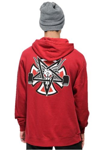 143994d47e9d Thrasher red Thrasher x Independent Pentagram Cross Hood Garnet Red  623EFAA5DE7868GS_1