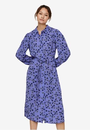 Vero Moda blue Malou Shirt Belt Dress D2CE3AAA20C2A4GS_1