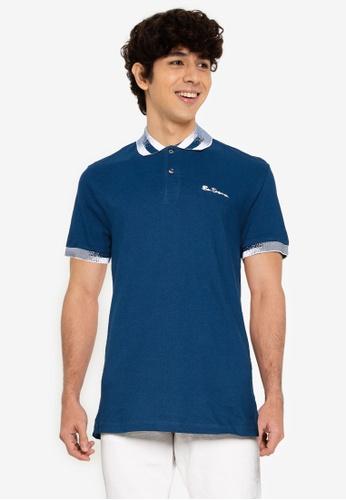 Ben Sherman blue Collar Interest Polo CE313AA6AFADD6GS_1