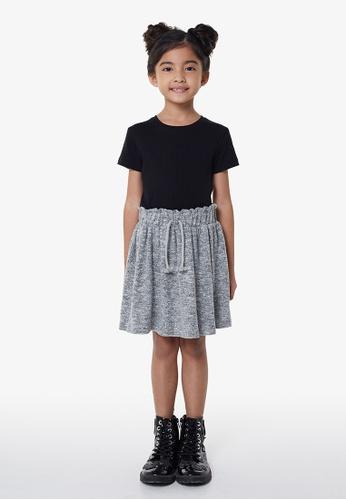 Gen Woo grey Grey Marl Drawstring Skirt By Gen Woo 54DF7KA8A40DE7GS_1