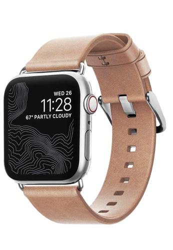 Nomad beige Leather Apple Modern Build Watch Strap 40/38mm 2B059AC27FA99EGS_1