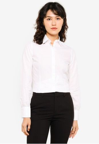 Sacoor Brothers white 100% Cotton Shirt With Pintucks Cuffs FB8D2AA7A780AFGS_1