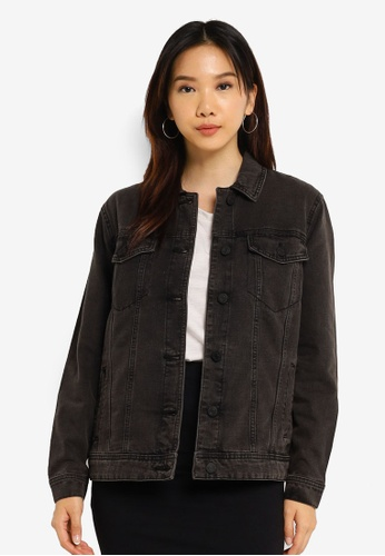 Noisy May black Ole Long Sleeve Black Denim Jacket C9210AA0979862GS_1