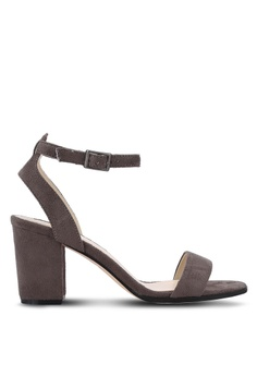 b1c660b5005a ZALORA grey Ankle Strap Heeled Sandals 14AF1SH7875BEDGS 1