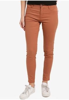 【ZALORA】 簡約窄管牛仔褲