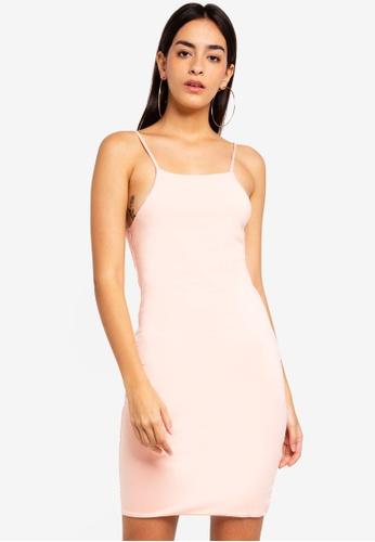 Supre pink High Neck Strappy Mini Dress 7BD85AA7A41EB6GS_1