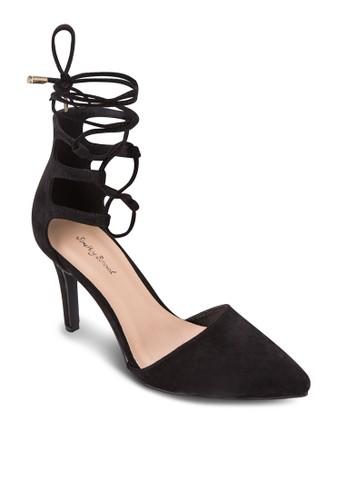 繞踝繫帶尖頭高跟鞋, zalora 手錶 評價女鞋, 鞋