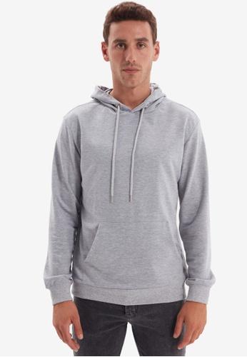 Trendyol grey Gray Hoodie Sweatshirt 8611FAAE696721GS_1