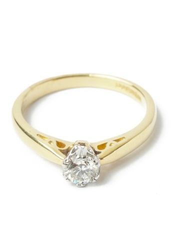 CEBUANA LHUILLIER JEWELRY gold 18K Karat Yellow Gold Lady Ring with Diamond A2D4BACDF6A862GS_1