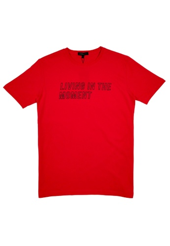 DRUM black Living in the moment tee- Red EB53AAAC2210D4GS_1