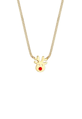 ELLI GERMANY gold Elli Germany Necklace Reindeer Swarovski Crystals Gold Plated 925 Sterling Silver 29367AC94864FAGS_1