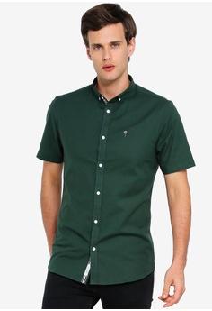 10c28a76 River Island green Short Sleeve Oxford Shirt 0C51EAA94B898DGS_1