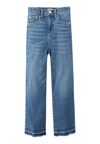 Levi's Kids blue LEVIS Little Girl Cropped Wide Leg Jeans AB20BKA2CC3D84GS_1