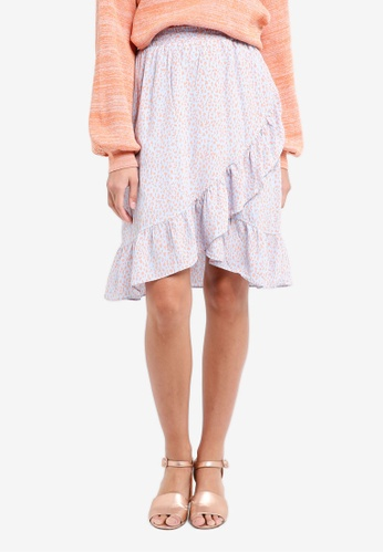 Selected Femme blue Danni Ruffle Skirt 4276BAA81E90F3GS_1