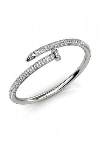 Her Jewellery silver Her Jewellery Nail Bangle (White Gold) with Premium Grade Crystals from Austria 59BEDAC6C1214FGS_1