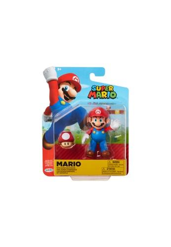 Kidmoro Nintendo Super Mario: W19 MARIO w/ SUPER MUSHROOM Poseable 4-inch Figure with Accessories 3417BESA5A1DBFGS_1