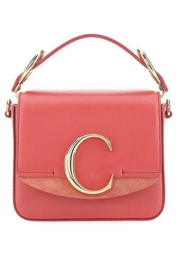 Chloé pink Chloe Mini Chloé C Crossbody Bag in Pink 30AA9ACF24DC98GS_1