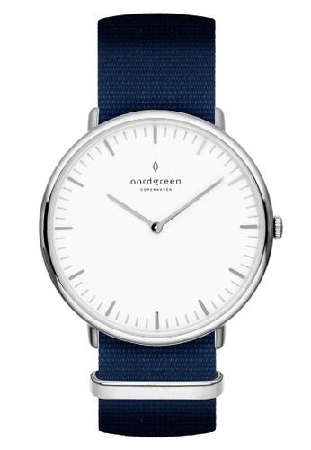Nordgreen blue and silver Nordgreen Native Silver 40 mm - Nylon Watch 0E5FDAC405124CGS_1