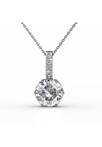 Her Jewellery silver Swarovski® Crystals - Kristine Pendant (18K White Gold Plated) Her Jewellery HE581AC0RDGLMY_1