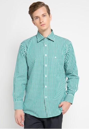 Pierre Cardin Apparel green Shirt Long Sleeve Technoshirt PI754AA0UIUCID_1