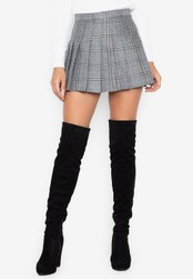 Chase Fashion grey Belle Plaid Pleated Skirt with Inner Shorts 5994DAACEBCE1EGS_1