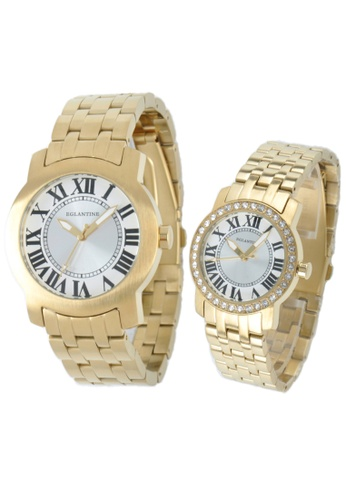EGLANTINE gold EGLANTINE® - Emile & Emily - 2 Watches Yellow Gold Plated Steel on Bracelet - Lady's with Crystals B881FACBE4276DGS_1