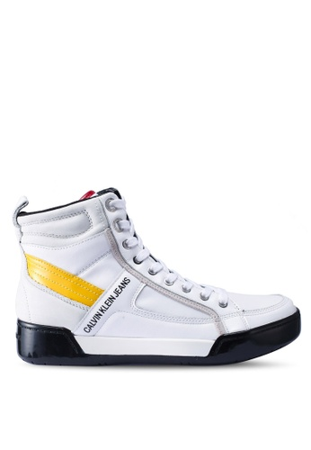 Calvin Klein white and multi Nicola Sneakers BF0A9SHD49EA89GS_1