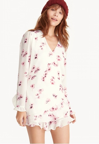 888230057ff Buy Pomelo Long Sleeve Floral Ruffle Wrap Romper Online on ZALORA ...
