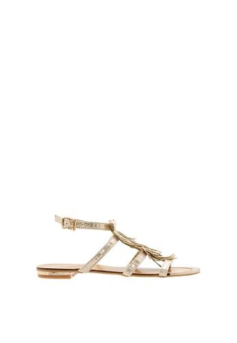 SEMBONIA gold SEMBONIA Synthetic Leather Flat Sandal (Gold) E1D57SH3FFFBEBGS_1