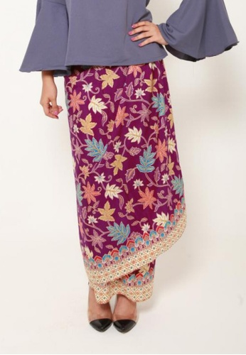 Naphthys Collection purple and multi Batik Skirt/Sarong 5EFFCAA9594969GS_1