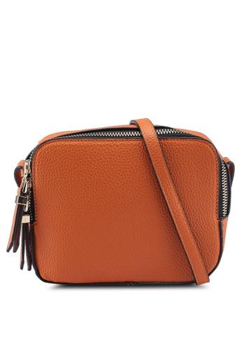 Dorothy Perkins orange Orange Double Zip Crossbody Bag 8AE1FAC7F46876GS_1